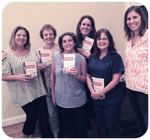 A few members of the Wilsonville, AL book club